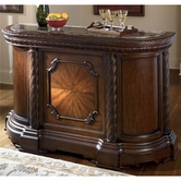 Ashley North Shore D553-65 Bar w/ marble top