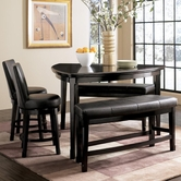 Ashley Emory D569-23/224(2)/024(2) -23 Triangle table,(2) swivel b/s,(2) bnchs