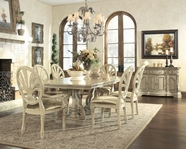 ASHLEY D707-55T-55B-03 Ortanique Rect Extension Dining Table Set
