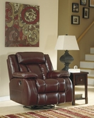 ASHLEY Dainan-Chestnut U8950132 Swivel Rocker Rec w/Pwr