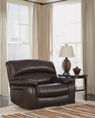Ashley Damacio-Dark Brown U9820052 0 Wall Wide Seat Rec