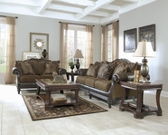 ASHLEY Glynallen-Teak 4100138-4100135 Sofa Set