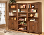 Ashley H319-17-2X18 Cross Island Large Door Bookcase Wall