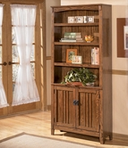 Ashley Cross Island H319-18 Large Door Bookcase
