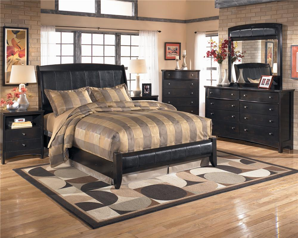 ashley harmony queen sleigh bedroom set b chicago cavallino queen storage bedroom set ashley furniture