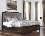 ASHLEY Larimer B654-76/78/99 King uphol storage bed