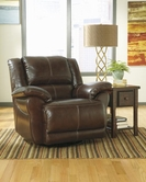 ASHLEY Lenoris-Coffee U9890132 Swivel Rocker Rec w/Pwr
