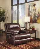 ASHLEY Lensar-Burgundy U9900028 Swivel Rocker Rec
