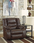 ASHLEY Linebacker DuraBlend-Espresso 9520198 Rocker Recliner w/Pwr