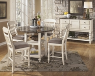 ASHLEY Manadell D512-13/124 Round counter height dining set
