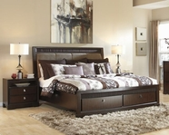 ASHLEY Marxmir B664-56S/58/97S King uphol hdbd storage storage bed