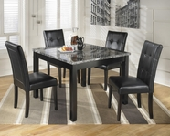 ASHLEY Maysville D154-225 Square table and (4) side chairs