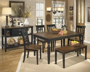 ASHLEY Owingsville D580-25/02 Rectangular Dining Set