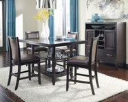 ASHLEY Trishelle D550-32-224 Rectangular counter height dining set