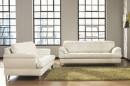 Ashley U8130038-35 Gunter-Brilliant White Sofa Set
