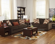 ASHLEY Verbena-Chocolate 6220038-6220035 Sofa Set