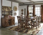 ASHLEY Waurika D644-32/124 Rectangular counter height dining set