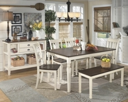 ASHLEY Whitesburg D583-25/02 Rectangular Dining Set