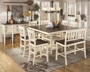 ASHLEY Whitesburg D583-32/224/323  Square dining set(double ladderback barstool)