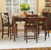 Aspenhome Cambridge ICB-6252-BCH Counter Height Rectangular Table Dining Set