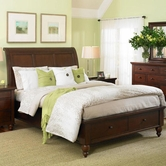Aspenhome Cambridge King-Size Sleigh Bed ICB-404-06L-07D-BCH