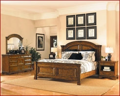 Aspenhome Centennial Queen Sleigh Bed I49 set
