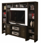 "Aspenhome CL1055-1115-1155 Essentials Lifestyle - Cherry 55"" Console and hutch"