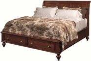 Aspenhome IA200-400-402L-403D-BRH Madison Queen Sleigh Bed With Low Profile Storage