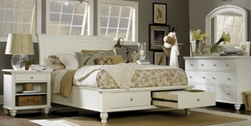 Aspenhome ICB-400-402L-403D-EGG Cambridge Queen Sleigh Bed with Storage