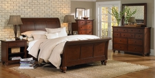 Aspenhome ICB-404-405-406L-BCH Cambridge King Sleigh Bed