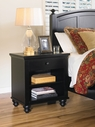 Aspenhome ICB-451-BLK Cambridge 1 Drawer Nightstand