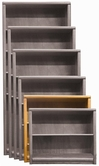 "Aspenhome OA3436 Essentials - Contemporary Bookcase 36""H 2 adj shelves"