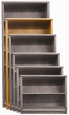 "Aspenhome OA3472 Essentials - Contemporary Bookcase 74""H 1 fixed & 3 adj shelves"