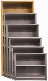 "Aspenhome OA3484 Essentials - Contemporary Bookcase 84""H 1 fixed & 4 adj shelves"