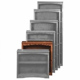 "Aspenhome OM3436 Essentials Mission Bookcase 36""H 2 adj shelves"