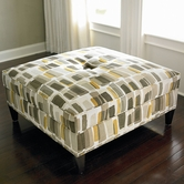 Bassett Furniture 1000-00 Custom Ottoman Square Ottoman