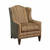 Bassett Furniture 1825-02LF Fleming Accent Chair Leather/Fabric