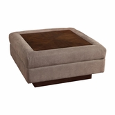 Bassett Furniture 2102-0W Modern Comfort Wood Top Ottoman Table