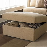 Bassett Furniture 3974-S2 Beckham Stor. Ottoman with Casters
