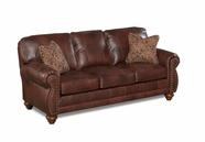 Best Osmond Stationary Leather Sofa With Nailhead Trim