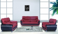 Beverly FL212 Brown Leather Sofa Set