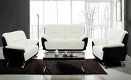Beverly Fl213 White Leather Sofa Set