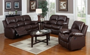 Beverly GS3000BN-AC-L-S Brown Reclining sofa set