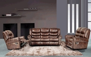 Beverly GS3200-AC-L-S Brown Reclining sofa set