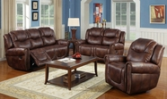 Beverly GS3700-AC-L-S Brown Reclining sofa set