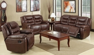 Beverly GS3800-AC-L-S Brown Reclining sofa set
