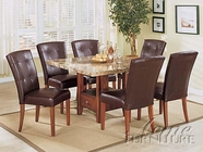 Bologna Square Marble Top Dining Set - Acme 7050-7046B