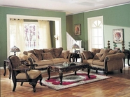 Bordeaux Chenille Fabric Sofa Set Acme 05600-01