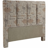 Broyhill 1226-256 Penley 5/0 Queen Fabric Headboard