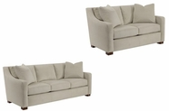 Broyhill 3579 Suede Leather Sofa Set